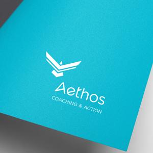Application du logo Aethos sur une page aqua