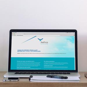 Le micro site Web Aethos