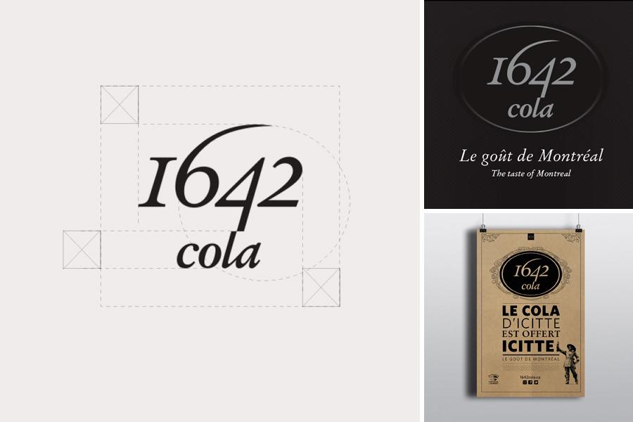 1642 Cola logo, slogan et branding