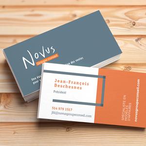 Cartes professionnelles Novus