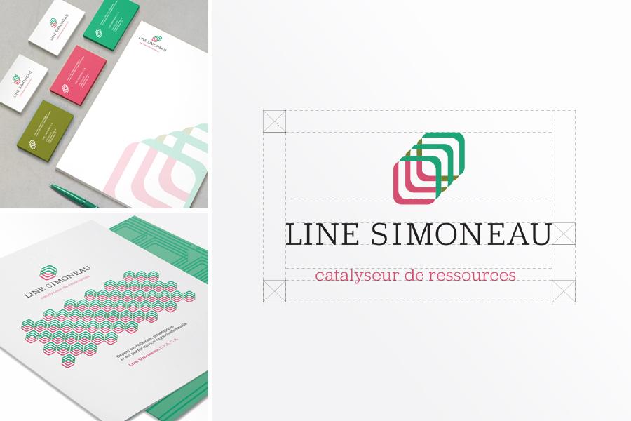 Line Simoneau, branding