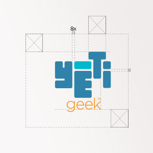Yéti geek, logo