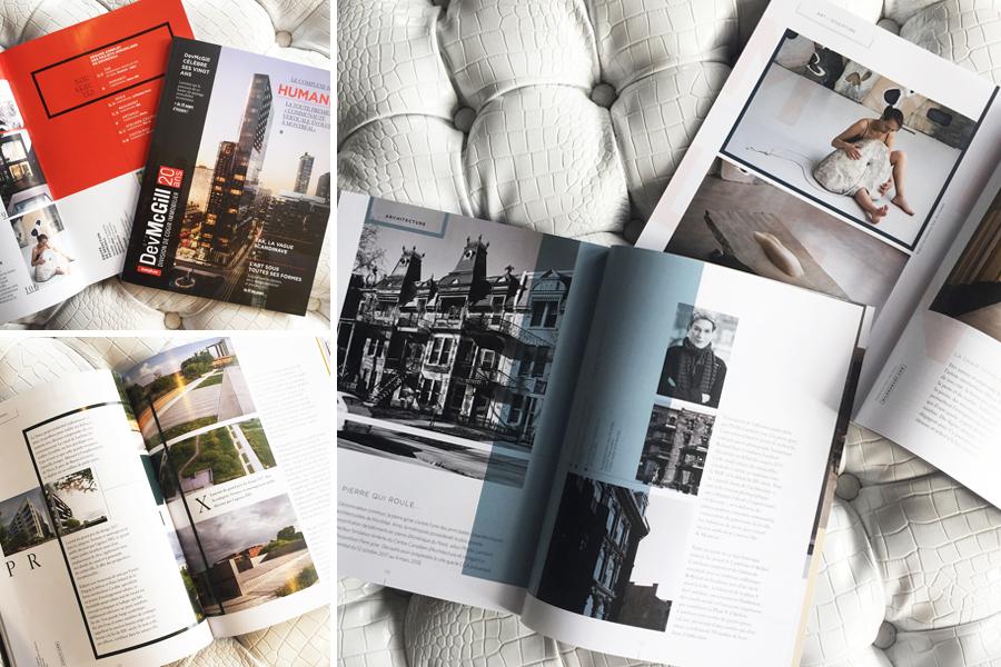 Magazine DevMcgill, été 2017, pages intérieures